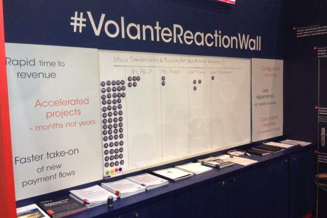 SIBOS stand and reaction wall 1