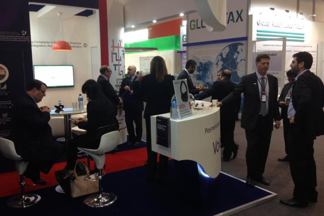 SIBOS stand and reaction wall 2
