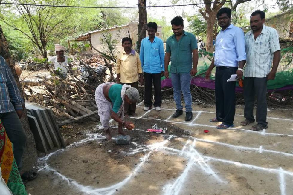 work in village for 60 toilets 1