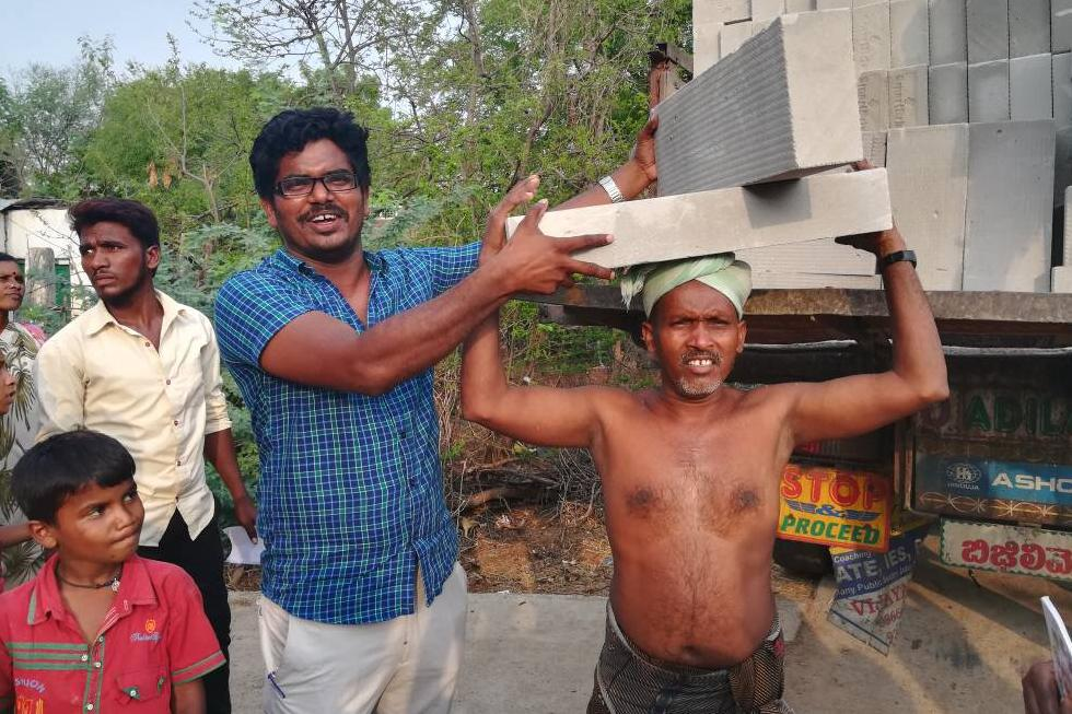 work in village for 60 toilets 2